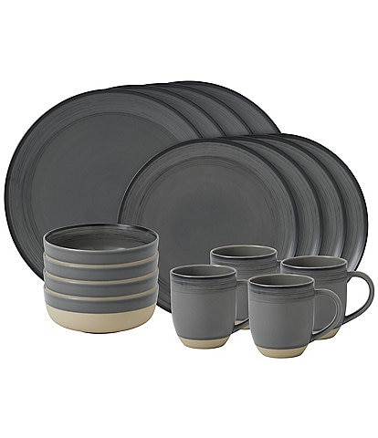 ED Ellen DeGeneres Crafted by Royal Doulton Brushed Glaze 16-Piece Dinnerware Set