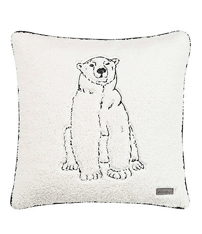 Eddie Bauer Cozy Polar Bear Square Throw Pillow