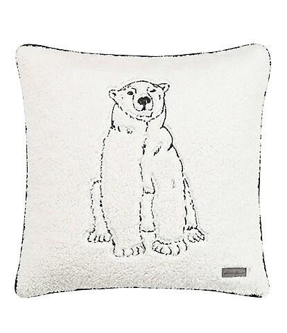 Eddie Bauer Cozy Polar Bear Square Throw Pillow