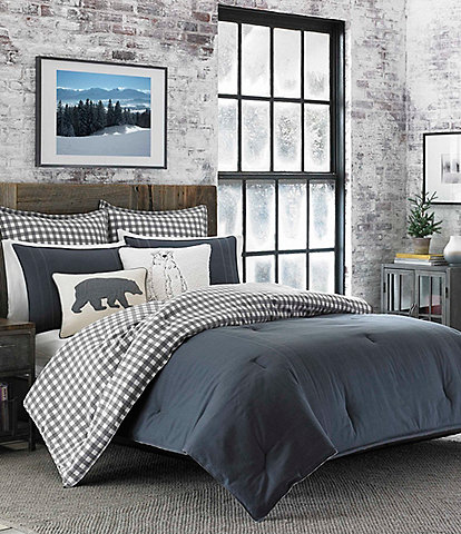 Eddie Bauer Kingston Charcoal Comforter Mini Set