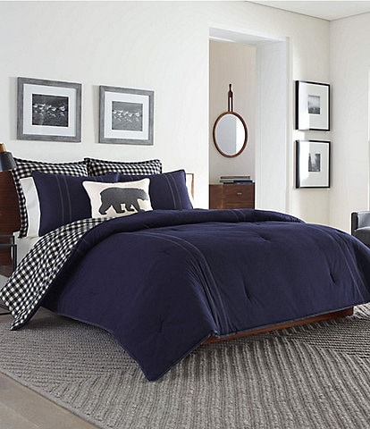 Eddie Bauer Kingston Navy Comforter Mini Set
