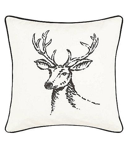 Eddie Bauer Winter Morning Stag Throw Pillow