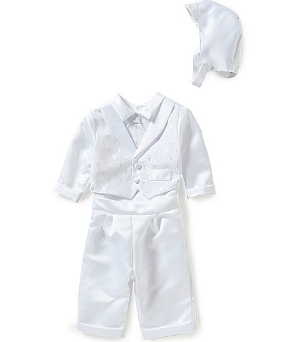 Edgehill Collection Baby Boys Newborn-12 Months Cross Shirt and Pants Christening Set