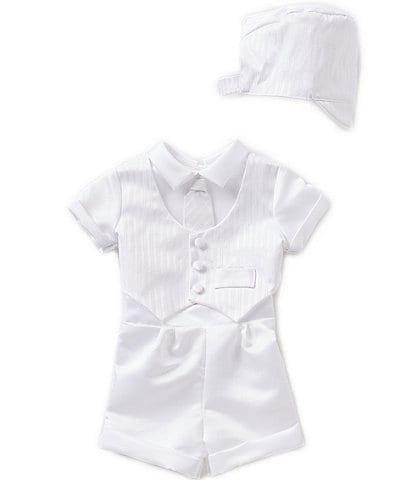 Edgehill Collection Baby Boys Newborn-24 Months 3-Piece Vest Set