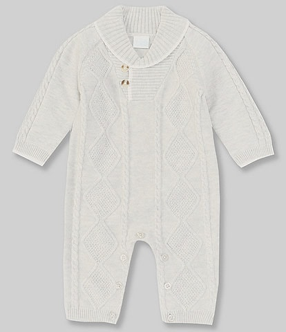 Edgehill Collection Baby Boys Newborn-24 Months Long-Sleeve Cable Knit Coverall