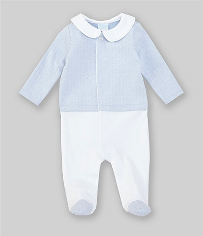 Edgehill Collection Baby Boys Newborn-6 Months Herringbone Footed Coverall