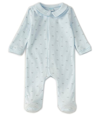 Edgehill Collection Baby Boys Newborn-6 Months Long-Sleeve Hedgehog Footed Coverall