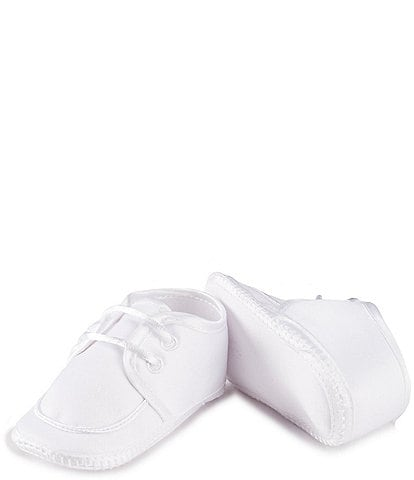 Edgehill Collection Baby Newborn-9 Months Lace Up Christening Crib Shoes (Infant)