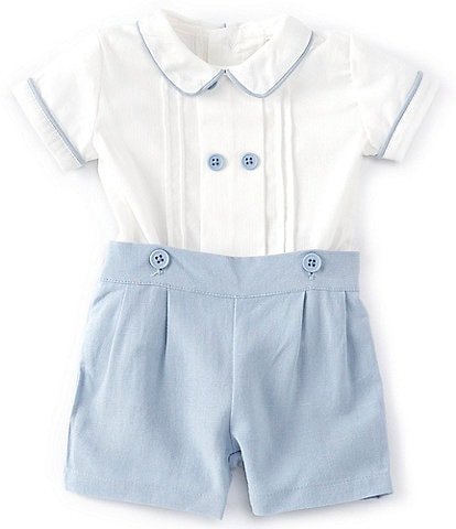 Edgehill Collection Baby Boys Newborn-9 Months Shirt & Shorts Set