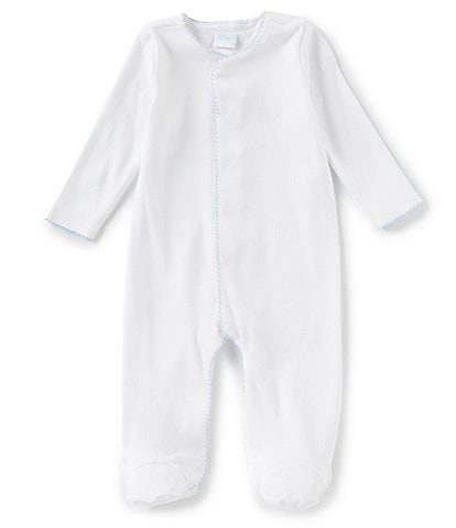 Edgehill Collection Baby Boys Preemie-9 Months Supima Footed Coverall