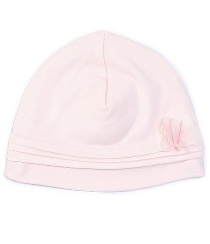 Edgehill Collection Baby Girl 3D-Flower Interlock Hat