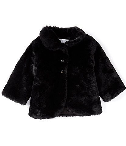 Edgehill Collection Baby Girls 12-24 Months Faux-Fur Coat
