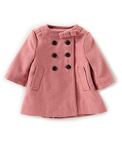 Edgehill Collection Baby Girls 3-24 Months Bow Collar Coat