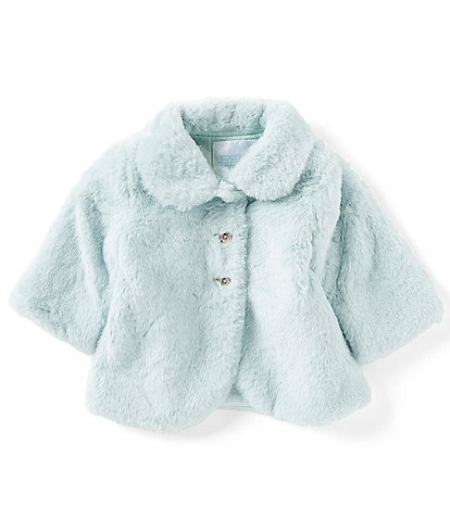 Edgehill Collection Baby Girls 3-24 Months Faux Fur Coat