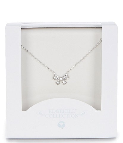 Edgehill Collection Baby Girls Bow Necklace