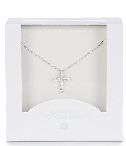 Edgehill Collection Baby Girls Cross Necklace