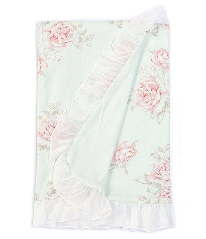 Edgehill Collection Baby Girls Floral Chiffon Ruffle Blanket