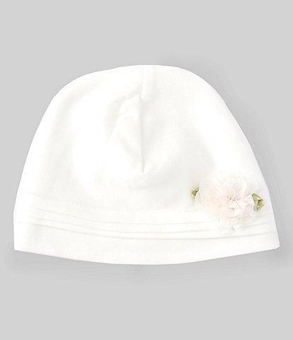 Edgehill Collection Baby Girls Flower Interlock Hat
