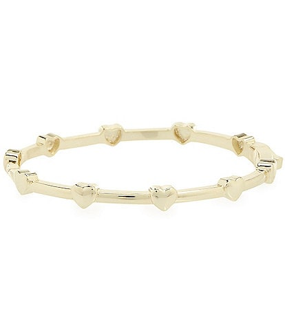 Edgehill Collection Baby Girls Gold Plated Brass Heart Hinged Bangle