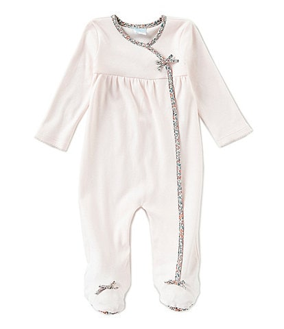 Edgehill Collection Baby Girls Newborn-6 Months Made With Liberty Fabrics Footed Coveralls