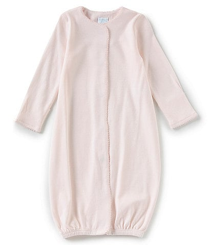 Edgehill Collection Supima Cotton Baby Girls Newborn-6 Months Supima Gown