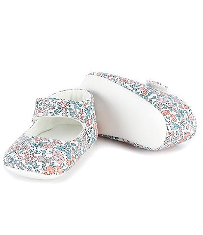 Edgehill Collection Baby Girls Newborn-6 Months Soft Sole Mary Jane Crib Shoes