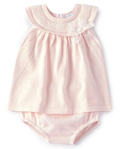Edgehill Collection Baby Girls Newborn-6 Months Sweater A-Line Dress