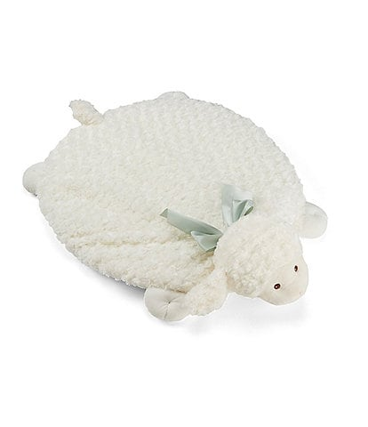 Edgehill Collection Baby Lamb Plush Tummy Time Cushion