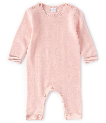 Edgehill Collection Baby Newborn-12 Months Long-Sleeve Cashmere Coverall