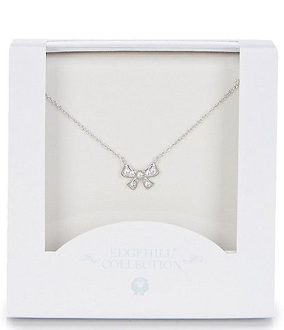 Edgehill Collection Girls Bow Necklace