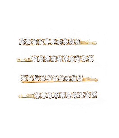 Edgehill Collection Girls Stone-Embellished Bobby Pins