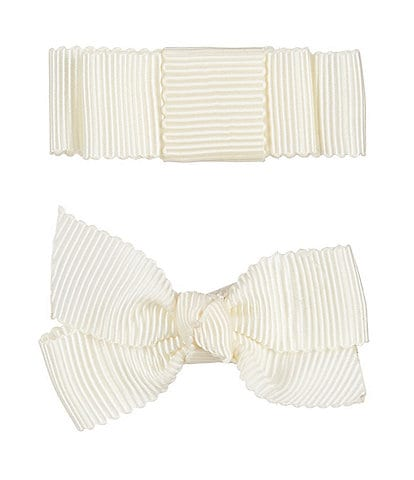 Edgehill Collection Little Girls 2-Pack Petersham Grosgrain Bows