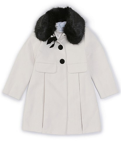 Edgehill Collection Little Girls 2T- 6X Single Breasted Wool Coat