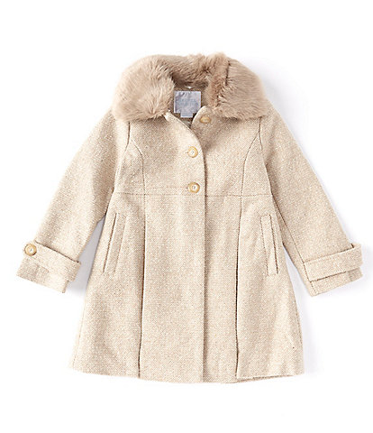 Edgehill Collection Little Girls 2T-6X Bow-Back Coat