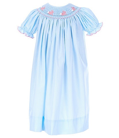 Edgehill Collection Little Girls 2T-6X Bunny Smocked A-Line Dress