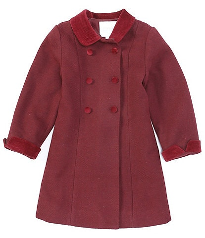 Edgehill Collection Little Girl's 2T-6X Double Breasted Coat