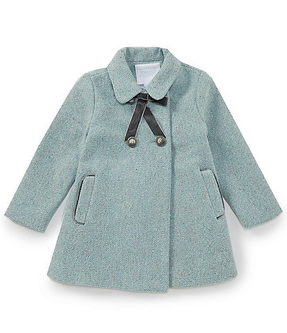 Edgehill Collection Little Girls 2T-6X Double Breasted Tweed Coat