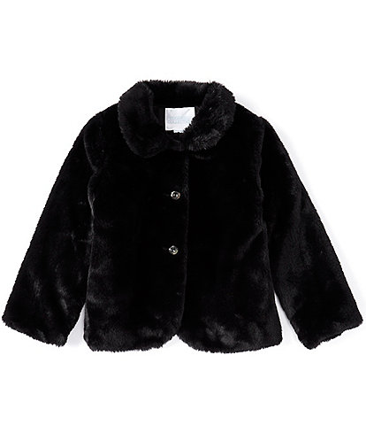 Edgehill Collection Little Girls 2T-6X Faux-Fur Coat