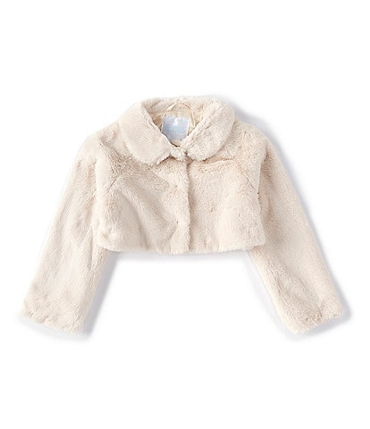 Edgehill Collection Little Girls 2T-6X Faux-Fur Cropped Coat
