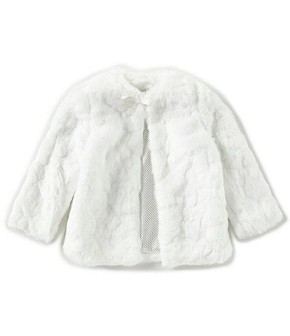 Edgehill Collection Little Girls 2T-6X Lined Faux Fur Coat