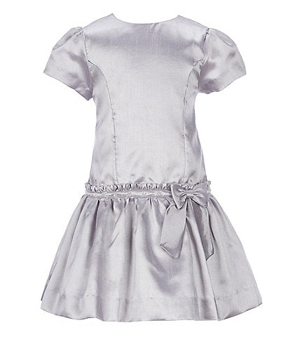 Edgehill Collection Little Girls 2T-6X Shantung Dress