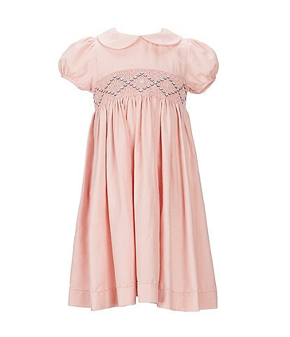 Edgehill Collection Little Girls 2T-6X Short-Sleeve Smocked Dress