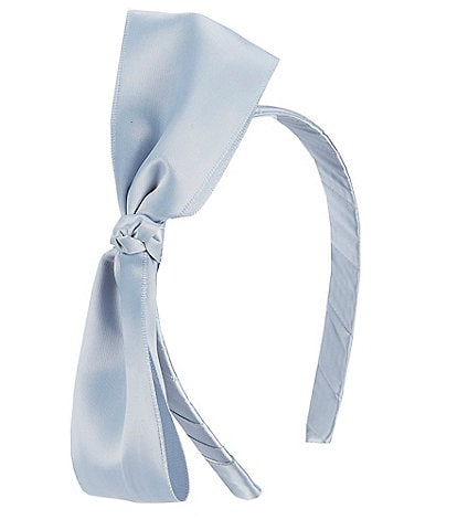 Edgehill Collection Little Girls Satin Bow Headband