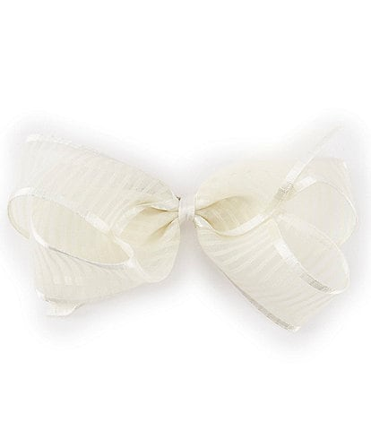 Edgehill Collection Little Girls Stripe Organza Bow