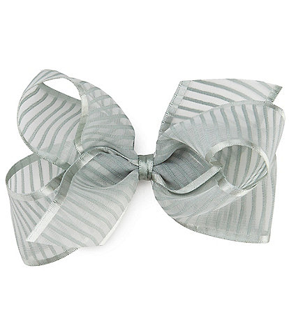 Edgehill Collection Little Girls Stripe Organza Bow