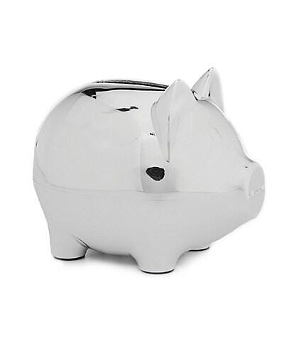 Edgehill Collection Silver Piggy Bank