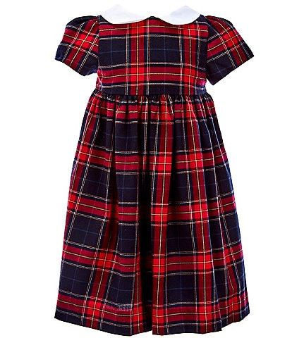 Edgehill Collection Toddler Girls 2T-4T Family Plaid Babydoll Dress