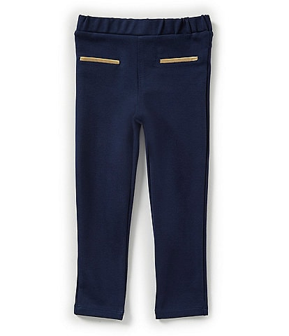 Egg by Susan Lazar Little Girls 2T-4T Addison Navy Ponte Pants