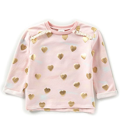 Egg by Susan Lazar Little Girls 2T-4T Juliana Blush Heart Print Top