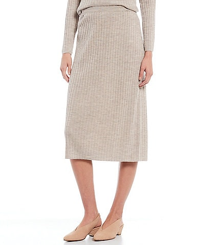 Eileen Fisher Fine Merino Wool Midi Skirt